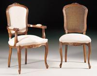 Silla y sillón clásicos 2 - Madera maciza alta calidad