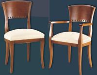 Silla y sillón clásicos 10 - Madera maciza alta calidad