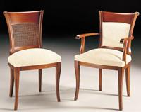 Silla y sillón clásicos 11 - Madera maciza alta calidad