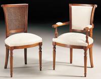 Silla y sillón clásicos 12 - Madera maciza alta calidad