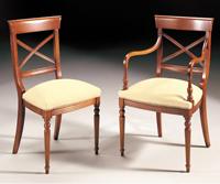Silla y sillón clásicos 26 - Madera maciza alta calidad