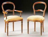 Silla y sillón clásicos 13 - Madera maciza alta calidad
