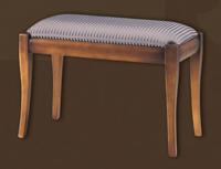 Banqueta de madera estilo rústico - Asiento tapizado, telas a elegir