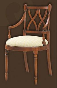 Sillón escritorio asiento tapizado - Madera maciza alta calidad