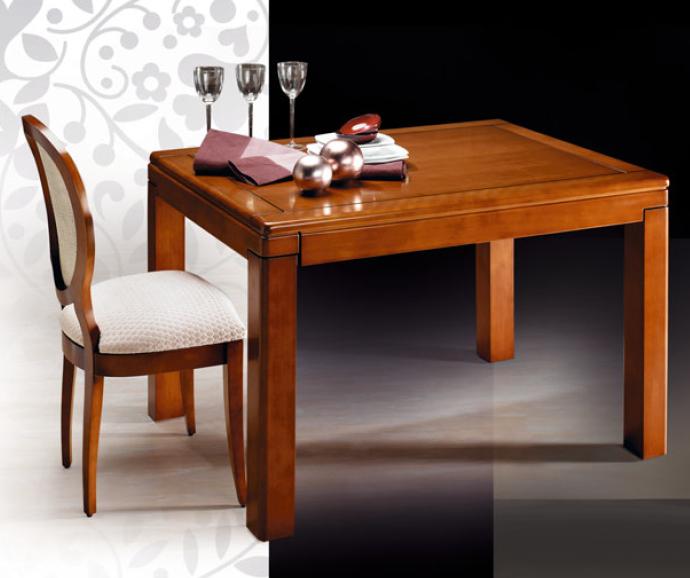 Mesa comedor extensible madera for Mesas de comedor pequenas