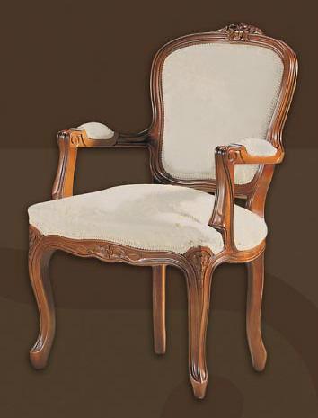 Sill n madera cl sico tapizado luis xv for Sillones clasicos tapizados
