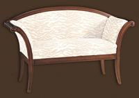 Sofá y sillón a juego tapizados - Estructura madera maciza alta calidad