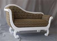 Sofá Palermo madera maciza tapizado - Estructura madera maciza