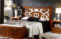 Cabecero madera  tapizado o forja SOM65 - Cabecero madera tapizado forja ref 40