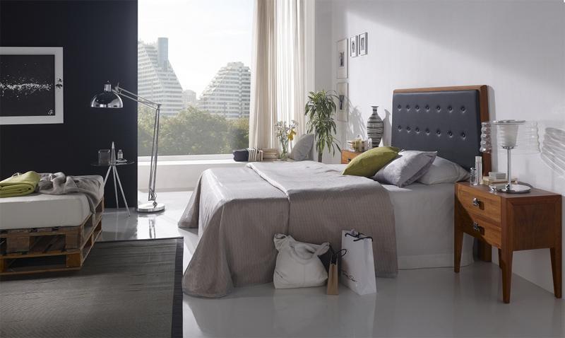 Cabecero piel y madera tarragona - Cabeceros de cama acolchados ...