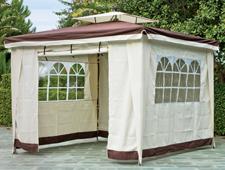 Cenador de jardín exterior 2  - Cenador con protecciones laterales
