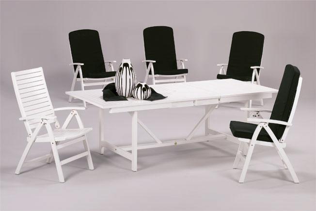 Set sillas y mesa madera modelo CERAM - Silla blanca de posiciones