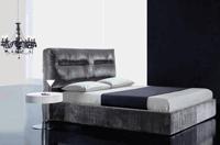 Cabecero de cama matrimonial refinado - Cabezal matrimonial refinado y estiloso compatible con aro cromado y aro abatible