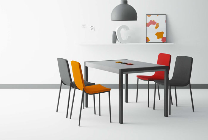 Mesa comedor moderna concept mia home - Mesa comedor porcelanico ...