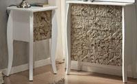 Cajonera o mesilla madera tallada colonial - Cajonera o mesilla madera tallada colonial
