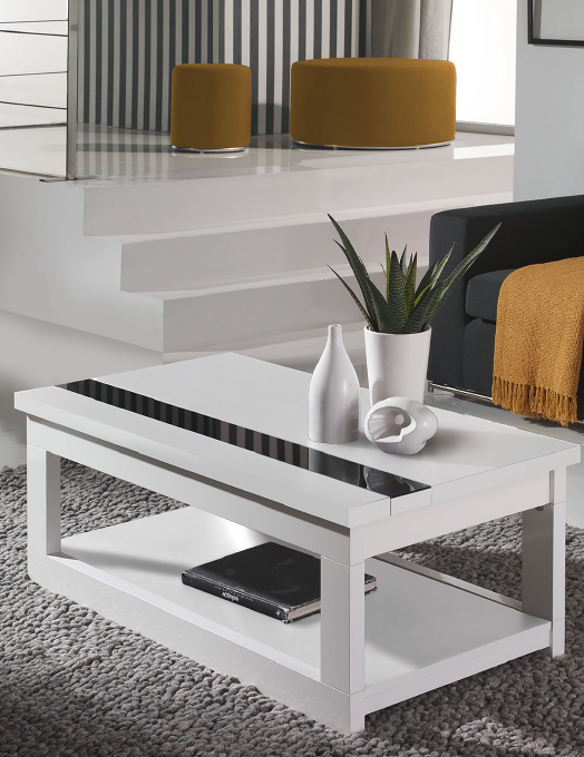 Mesa salon baja elevable oferta zaragoza santander for Mesas de comedor de vidrio y metal