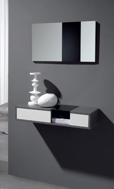 Bonito y discreto juego de recibidor espejo barato palencia for Espejos recibidor baratos