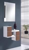 Recibidor con espejo 18 - Práctico recibidor colgante con espejo