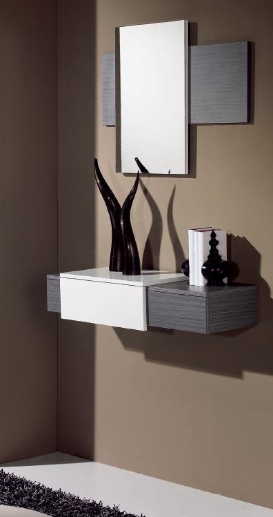 Recibidor minimalista peque o espejos valladolid salamanca - Muebles recibidores pequenos ...