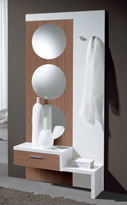 Recibidor con espejo 1 - Recibidor con espejo única pieza