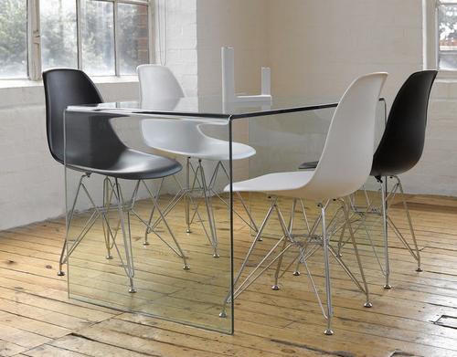 Mesa de escritorio toda de cristal - Mesa de estudio de cristal ...