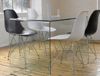 Mesa de despacho de cristal modelo CONCO - Mesa escritorio de cristal transparente de oficina