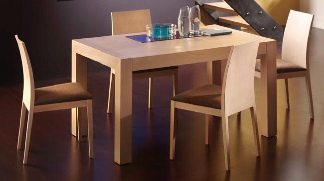 Silla moderna mesa comedor madrid - Conjunto mesa extensible y sillas comedor ...