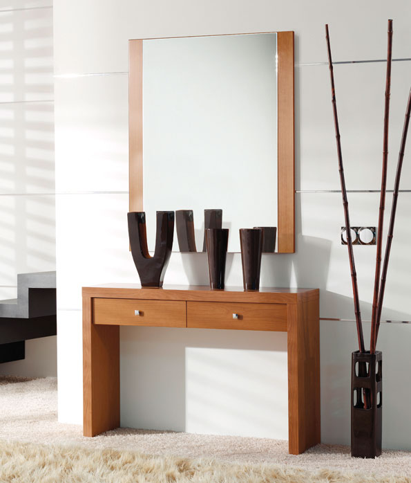 Consolas entrada con espejo oferta toledo medina del campo for Espejos de pie en madera