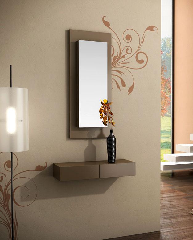 Consola con espejos sin marco inferior 2 cajones murcia bilbao - Entraditas modernas ...