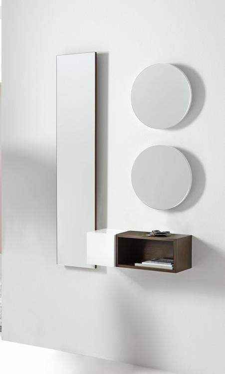 Consola o entrada diseño moderno de colgar 5 - Consola moderna lineas rectas de colgar 5