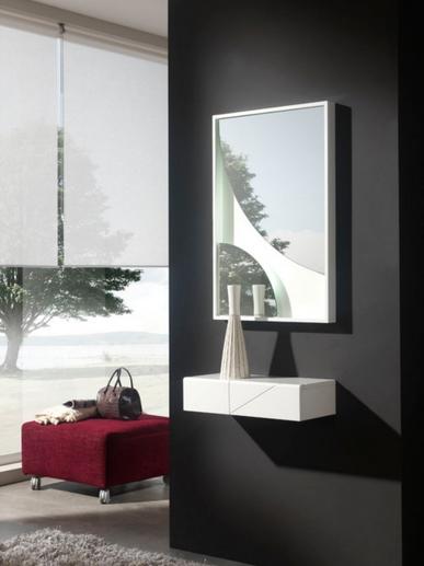 Consola de colgar o espejos - Espejo de circulos o consola moderna pequeña