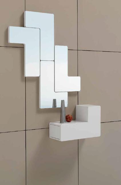 consola o espejo tetris consola o espejos en forma de tetris