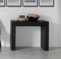consola extensible lacada - Consola extensible convertible en mesa de comedor.
