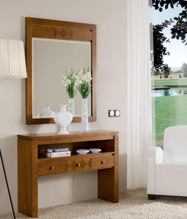 Consola y espejo de chapa Cerezo 12 - Consola y espejo de chapa de Cerezo