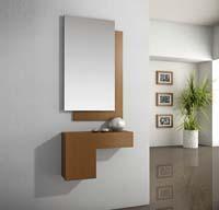 Consola y espejos chapa Roble 34 - Consola y espejos de Chapa de Roble