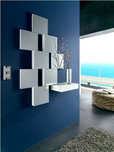 Consola de caj n con espejos for Decoracion espejos cuadrados
