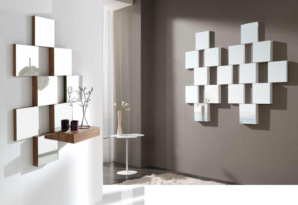 Consola de caj n con espejos for Espejo pequeno decoracion