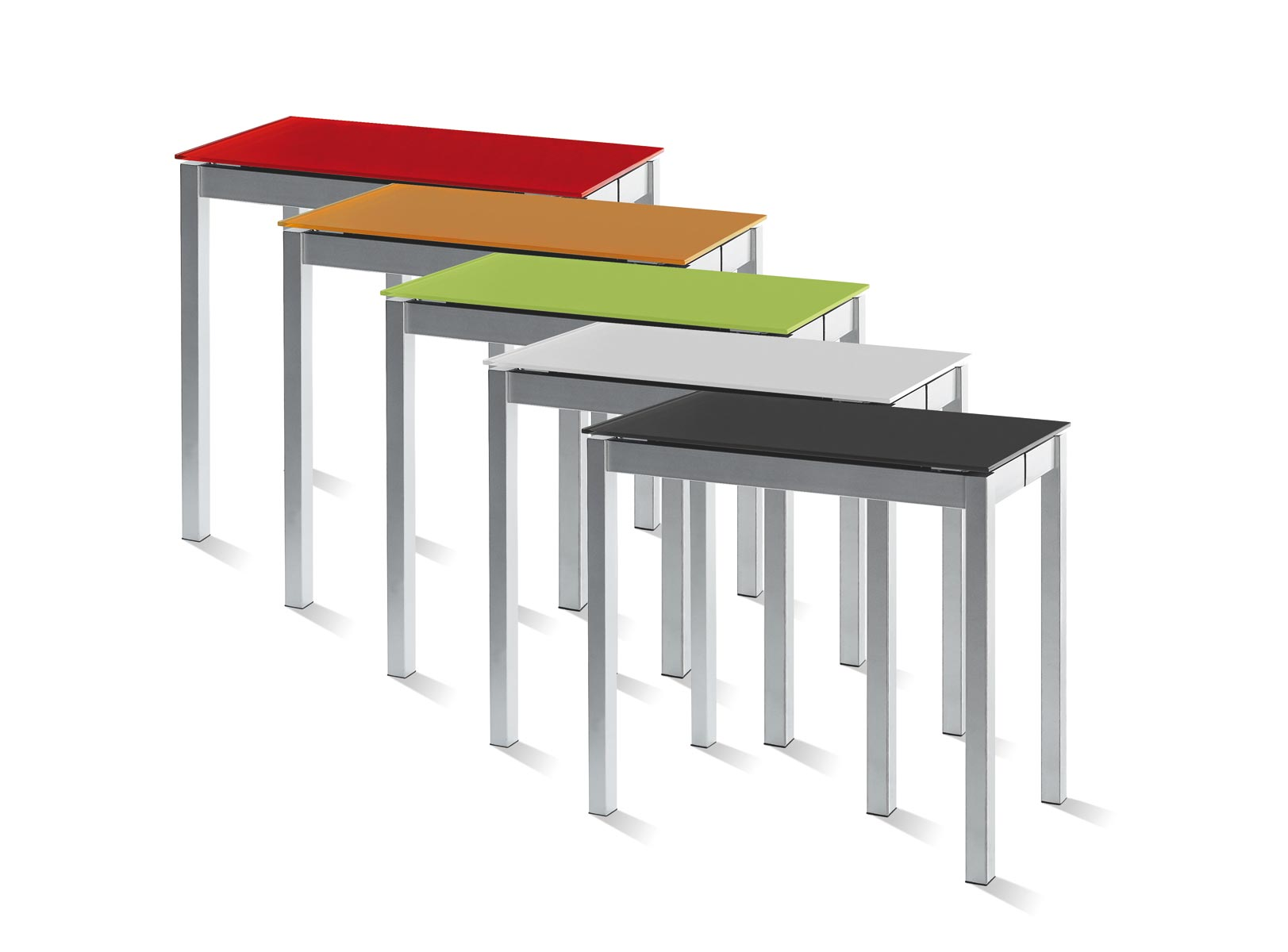 Mesa de cocina peque a y extensible for Mesas de comedor altas