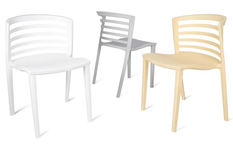 Elegante y funcional silla de polipropileno pensada para for Sillas cocina polipropileno