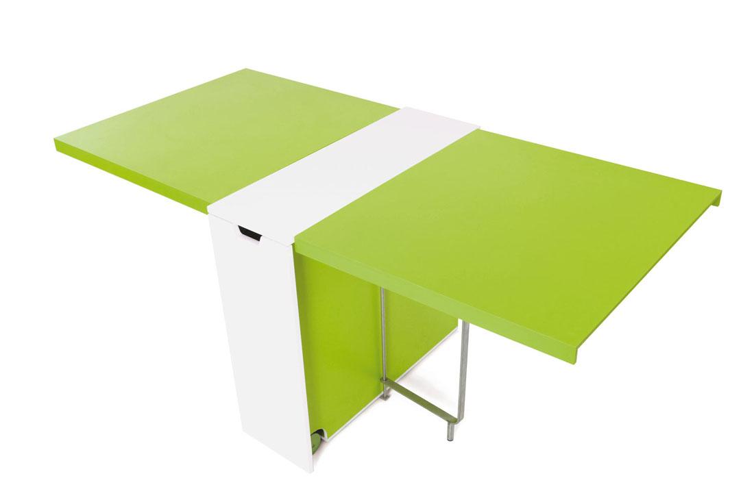 Mesa de alas de cocina con bandeja - Mesas con alas abatibles ...