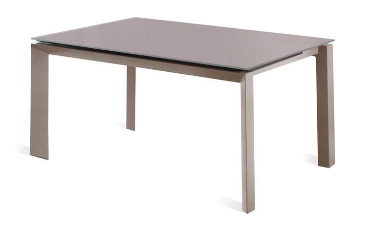 Mesa extensible de cristal templado con estructura met lica - Estructura metalica mesa ...