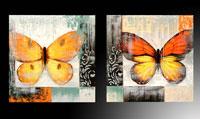 cuadro mariposas de naranja amarillas - cuadro de colores