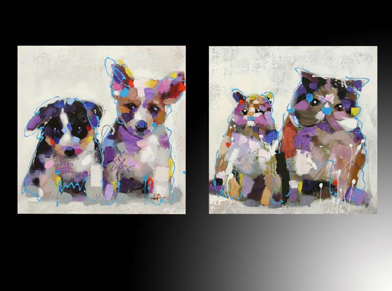 Venta de cuadros online perros gatos for Imagenes cuadros abstractos juveniles
