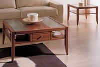 Mesas de centro Domus D400 o D410 o D420 - Mesas de centro Domus D400 o D410 o D420, fabricado en madera maciza y cristal.