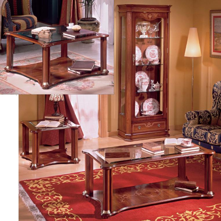 Mesas de centro Europa E340 o E341 o E342 - Mesas de centro Europa E340 o E341 o E342, fabricado en madera maciza y cristal.