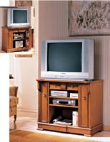 Mesa de TV Verona V4000 - Mesa de TV Verona V4000 diseño clásico, fabricado en  Chapa de cerezo y marquetería