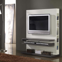 Mesa TV con biblioteca - Mesa TV con biblioteca en la parte trasera