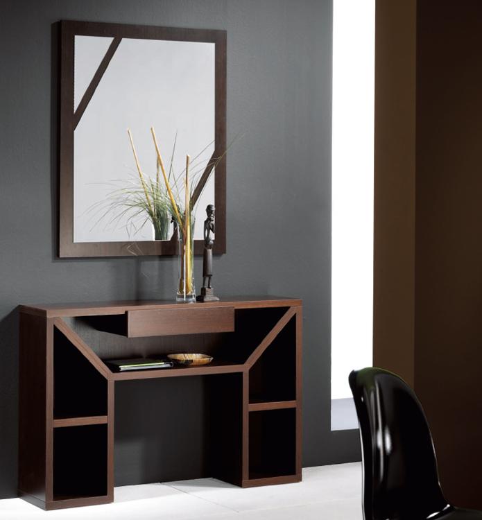 Recibidor y espejo a juego de alta calidad for Grado superior decoracion de interiores