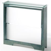 Cubreradiador con láminas de cristal. - Cubreradiador con láminas de cristal.