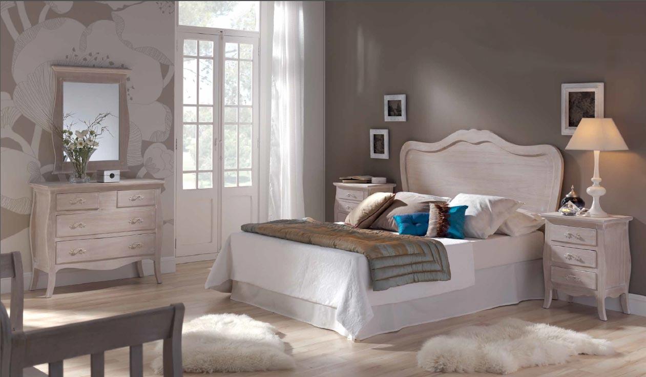 Dormitorio decapado - Muebles decapados en blanco ...